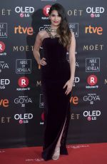 SARA SALAMO at 32nd Goya Awards in Madrid 02/03/2018
