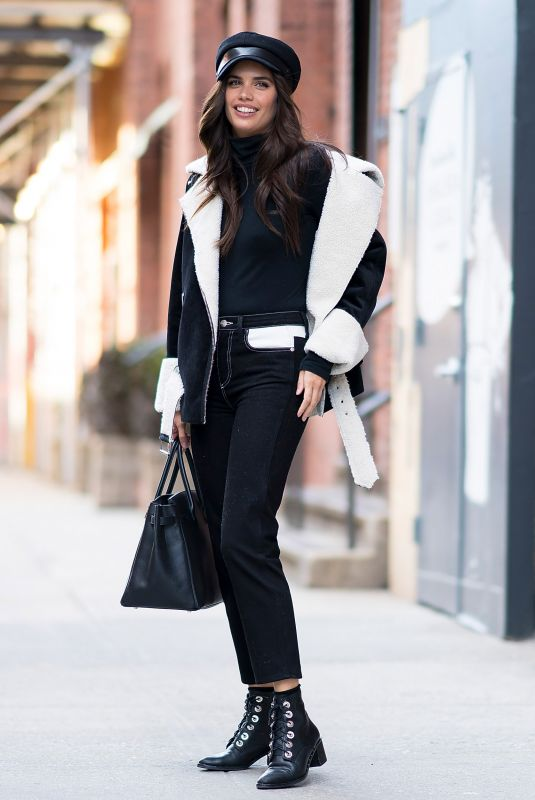 SARA SAMPAIO Out at New York Fashion Week 02/12/2018