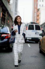 SARAH ELEN Out at New York Fashion Week 02/09/2018