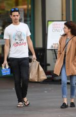 SARAH HYLAND and Wells Adams at Gelson