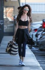 SARAH HYLAND Arrives at a Gym in Los Angeles 02/07/2018