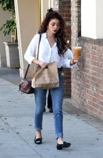 SARAH HYLAND at Cafe Gratitude in West Hollywood 02/06/2018