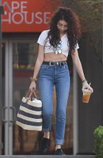 SARAH HYLAND Leaves Beauty and Hair Salon in Hollywood 02/07/2018