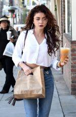 SARAH HYLAND Leaves Cafe Gratitude in West Hollywood 02/06/2018