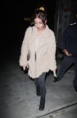SARAH HYLAND Leaves Hotel Cafe in Los Angeles 02/15/2018