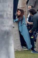 SARAH HYLAND on the Set of Modern Family in West Hollywood 02/27/2018