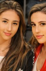 SCARLET and SOPHIA ROSE STALLONE at Oklahoma City Thunder Game in Los Angeles 02/08/2018