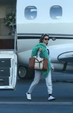 SELENA GOMEZ Arrives at a Private Jet in Los Angeles 02/07/2018