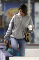 SELENA GOMEZ at Kings Valley Ice Center in Los Angeles 01/31/2018