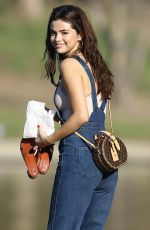 SELENA GOMEZ at Lake Balboa Park in Encino 02/02/2018