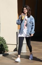 SELENA GOMEZ Heading to a Business Meeting in Los Angeles 02/08/2018