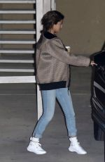 SELENA GOMEZ Leaves Church in Beverly Hills 02/21/2018