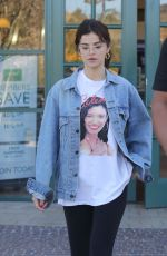 SELENA GOMEZ Out for a Coffee in Studio City 02/08/2018