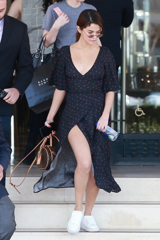SELENA GOMEZ Out Shopping in Beverly Hills 02/01/2018