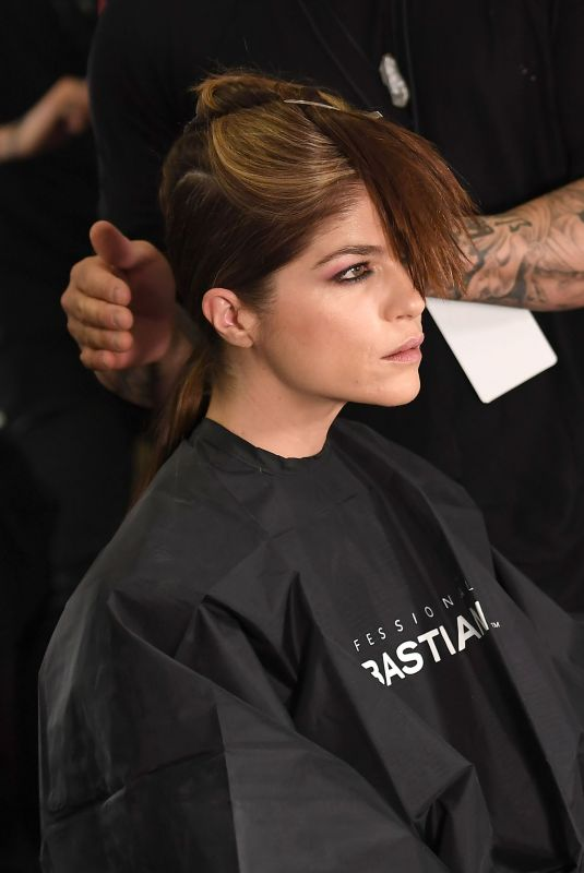 SELMA BLAIR on the Backstage of Christian Siriano Fashion Show at NYFW in New York 02/10/2018