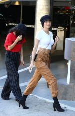 SHANINA SHAIK and NICOLE WILLIAMS Out for Lunch at Soho House in Los Angeles 02/25/2018