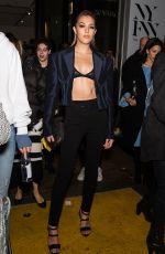 SISTINE ROSE STALLONE Leaves Prabal Gurung Fashion Show in New York 02/11/2018