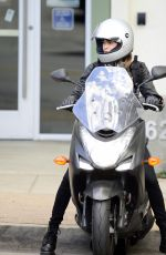 SOFIA BOUTELLA on a Motorbike in Los Angeles 02/18/2018