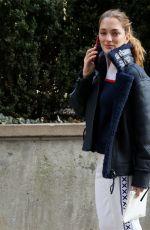 SOFIA SANCHEZ DE BETAK Arrives at Tory Burch Fall/Winter 2018/19 Fashion Show at New York Fashion Week 02/09/2018