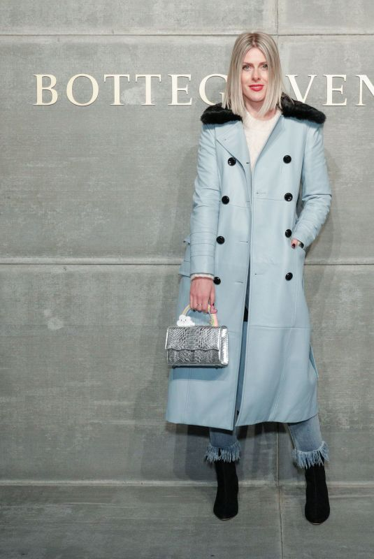 SOFIE VALKIERS at Bottega Veneta Show at New York Fashion Week 02/09/2018