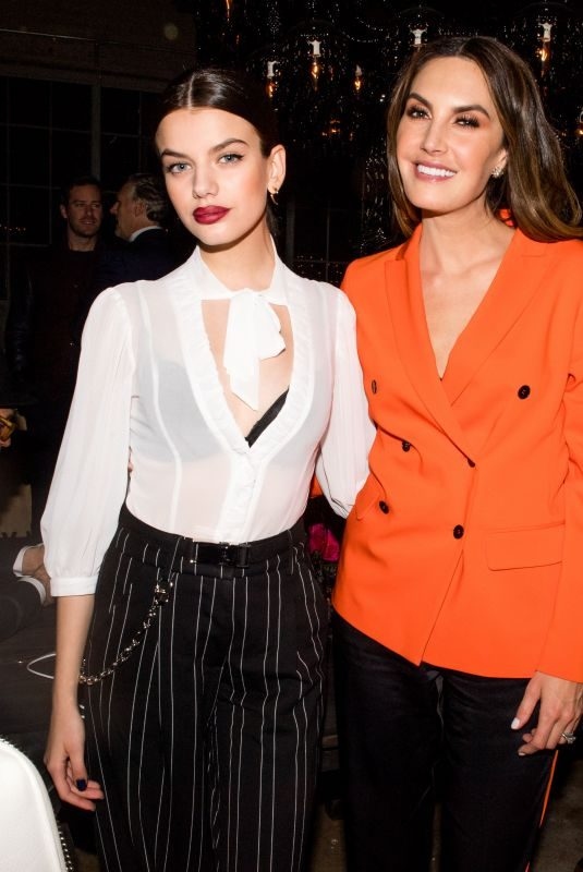 SONIA BEN AMMAR and ELIZABETH CHAMBERS at L'Officiel USA Launch Dinner in New York 02/08/2018