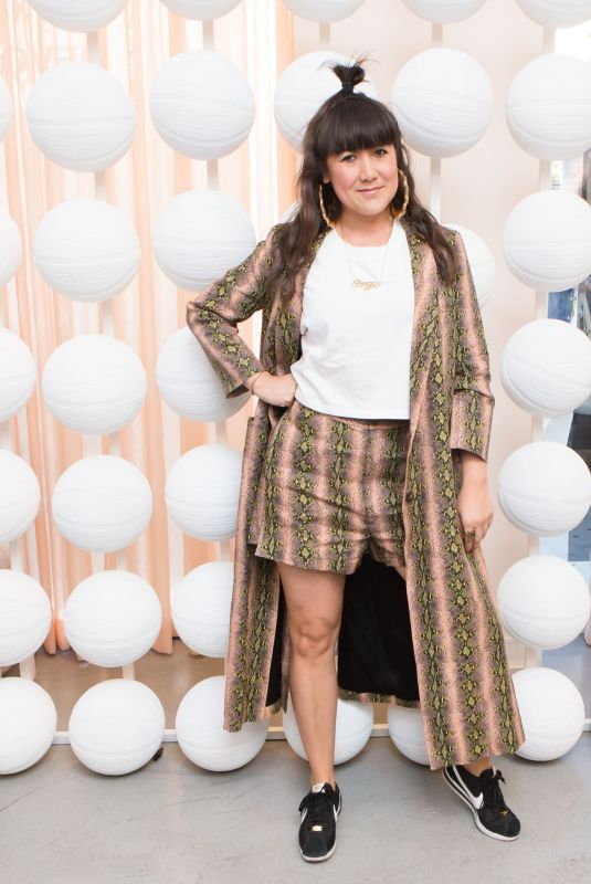 SONJA RASULA at Revolve x Nike 1s Reimagined Pop-up Event in Los Angeles 02/16/2018