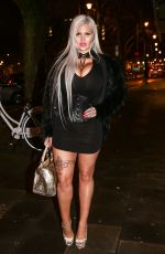SOPHIA VEGAS WOLLERSHEIM Out for Dinner in Cologne 01/31/2018