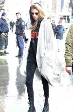 STELLA MAXWELL Out and About in New York 02/13/2018