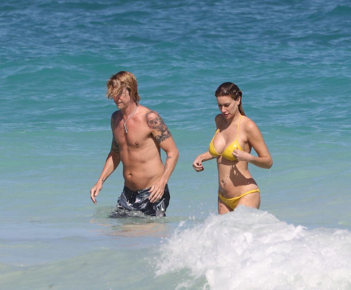 Susan Holms in Yellow Bikini on the beach in Tulum Pic 3 of 35