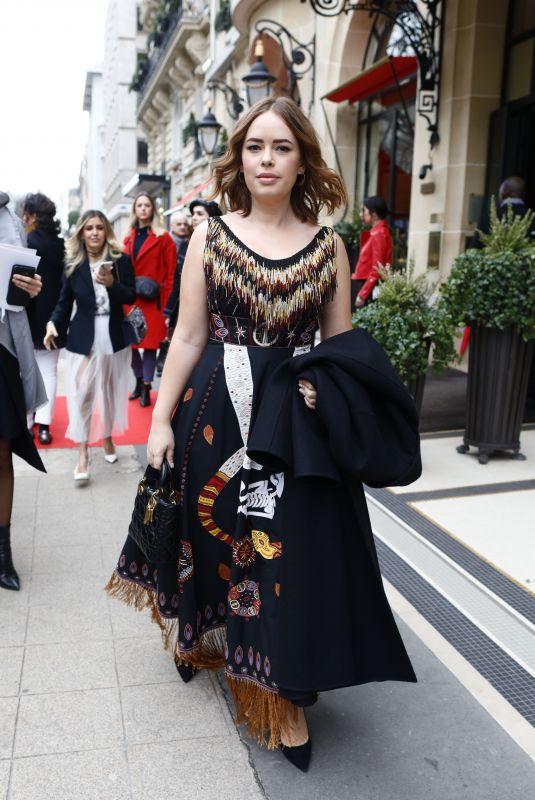 TANYA BURR Leaves Her Hotel in Paris 02/27/2018