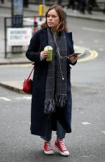 TANYA BURR Leaves Joe and the Juice in London 02/14/2018