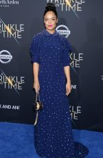 TESSA THOMPSON at A Wrinkle in Time Premiere in Los Angeles 02/26/2018