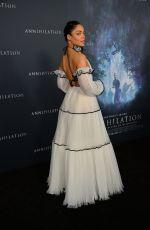 TESSA THOMPSON at Annihilation Premiere in Los Angeles 02/13/2018