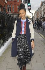 THANIDE NEWTON Arrives at Claridge