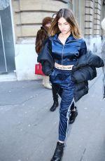 THYLANE BLONDEAU Leaves Royal Monceau Hotel in Paris 02/27/2018