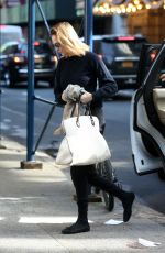 UMA THURMAN Out and About in New York 02/21/2018