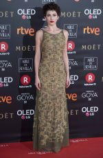 URSULA CORBERO at 32nd Goya Awards in Madrid 02/03/2018