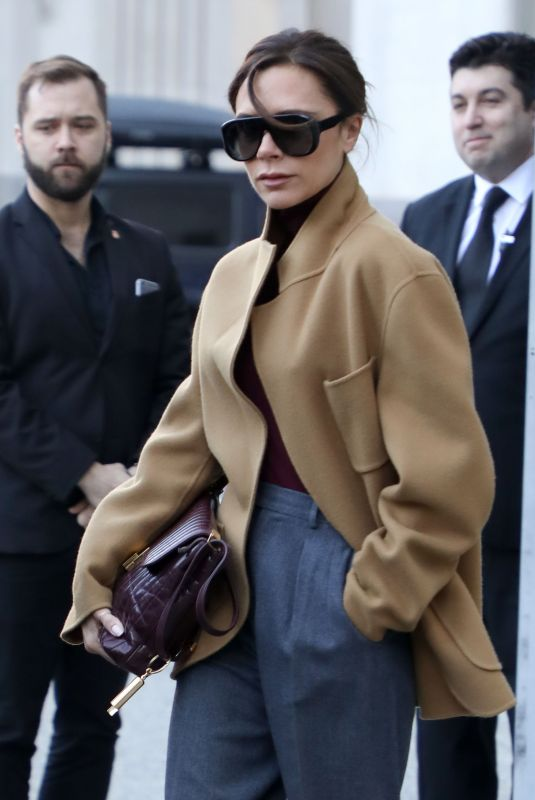 VICTORIA BECKHAM Heading to Her Fashion Show Rehearsals in New York 02/08/2018