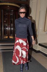VICTORIA BECKHAM Leaves Her Hotel in London 02/01/2018