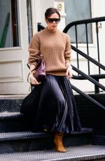 VICTORIA BECKHAM Out at New York Fashion Week 02/08/2018