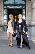 VICTORIA BONYA and HOFIT GOLAN Out at Milan Fashion Week 02/24/2018