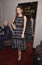 VICTORIA JUSTICE at Etihad Airways VIP Lounge at NYFW in New York 02/08/2018