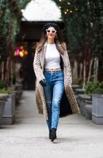 VICTORIA JUSTICE Out at New York Fashion Week 02/09/2018