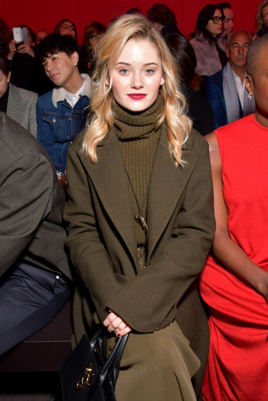 VIRGINIA GARDNER at Salvatore Ferragamo Show at Milan Fashion Week 02/24/2018