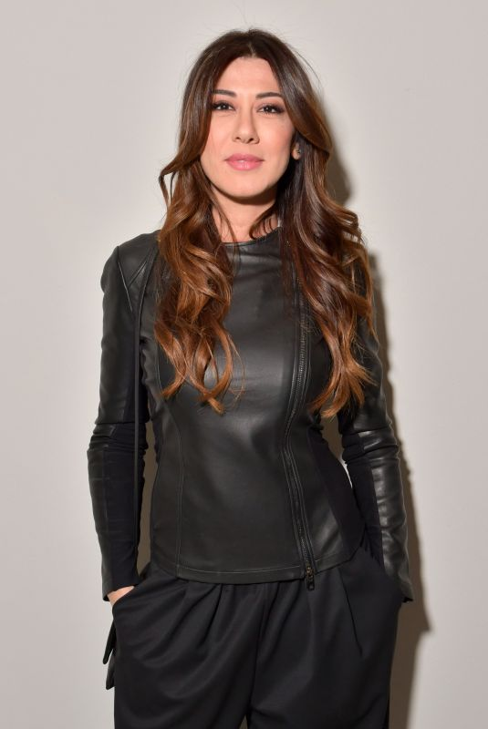 VIRGINIA RAFFAELE at Emporio Armani Fashion Show at MFW in Milan 02/25/2018