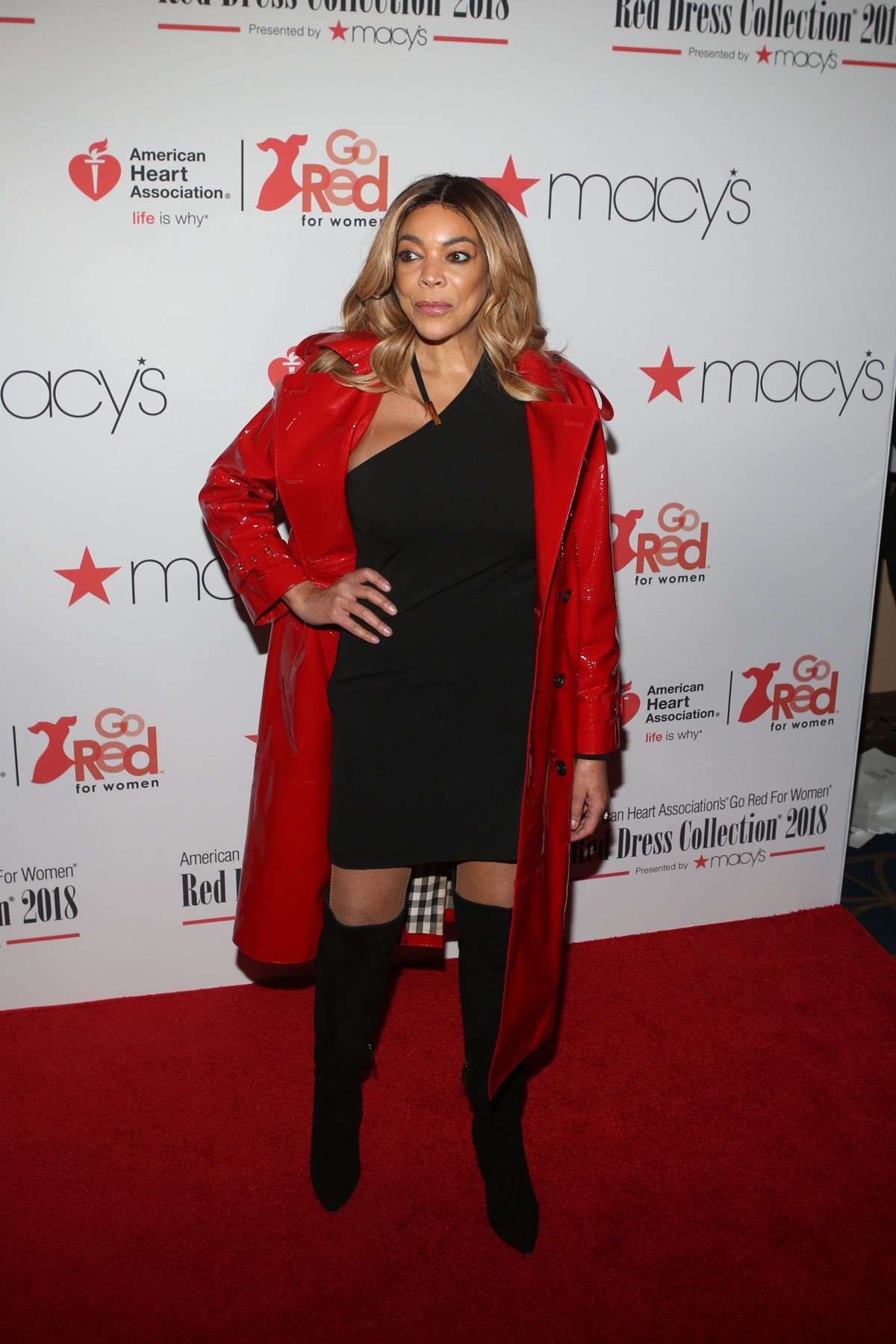 99949c176cb WENDY WILLIAMS at Go Red for Women Red Dress Collection 2018 Presented by  Macy s in New