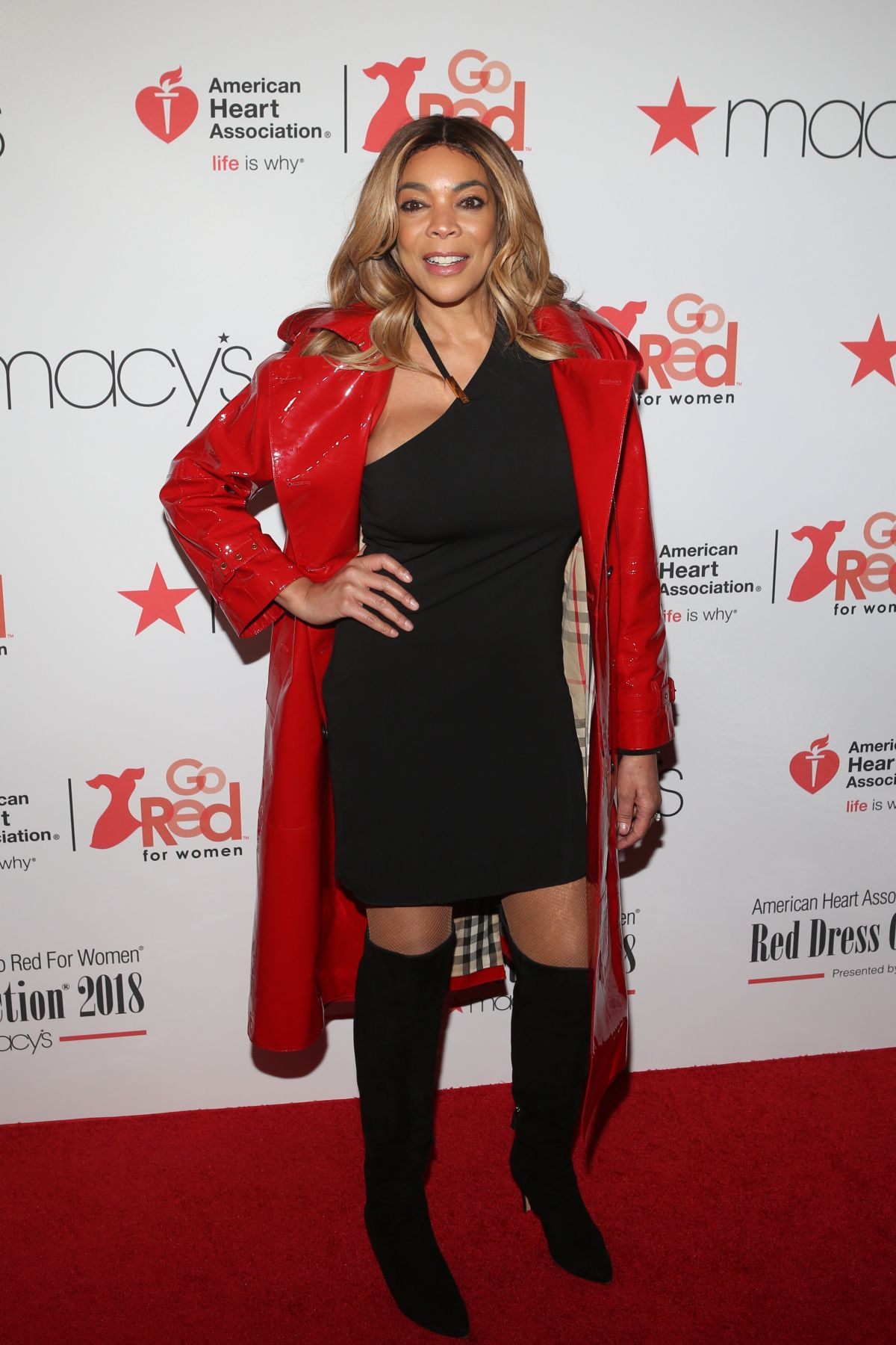 ad26f2cb9db WENDY WILLIAMS at Go Red for Women Red Dress Collection 2018 Presented by  Macy s in New York 02 08 2018