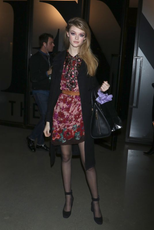 WILLOW HAND at Anna Sui Fall/Winter 2018 Fashion Show at NYFW in New York 02/12/2018
