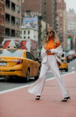 XENIA OVERDOSE Arrives at Tory Burch Fall/Winter 2018/19 Fashion Show at New York Fashion Week 02/09/2018