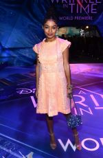 YARA SHAHIDI at A Wrinkle in Time Premiere in Los Angeles 02/26/2018